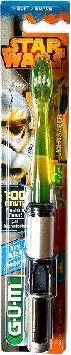 Gum Star Wars Cepillo Dental  Con Luz Sable Luminoso Jedi