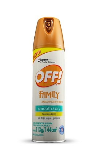 Repelente De Mosquitos Off! Family Smooth & Dry Efecto Seco