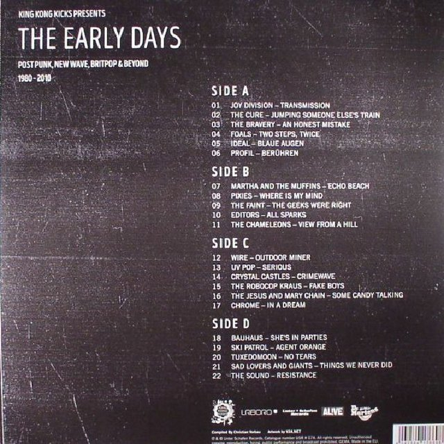 COMPILAÇÃO - THE EARLY YEARS 1980-2010 / POST-PUNK/NEW-WAVE (VINIL DUPLO) - comprar online