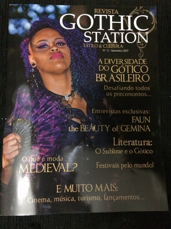 REVISTA GOTHIC STATION - NÚMERO 2 - BRASIL 2017 (REVISTA + CD)