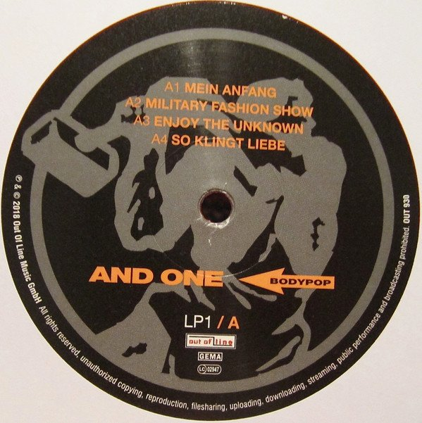 AND ONE - BODYPOP (VINIL DUPLO) - Wave Records