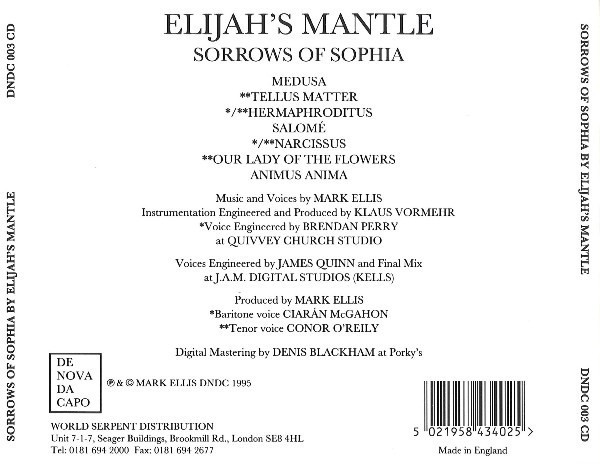 ELIJAH´S MANTLE - SORROW OF SOPHIA (CD) - comprar online