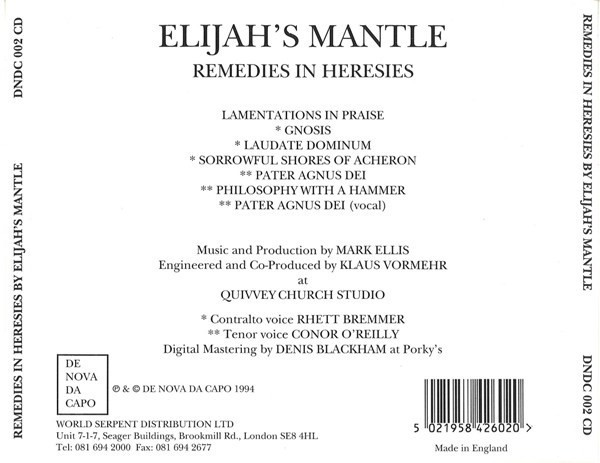 ELIJAH´S MANTLE - REMEDIES IN HERESIES (CD) - comprar online