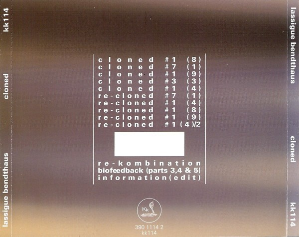 LASSIGUE BENDTHAUS - CLONED (CD) - comprar online