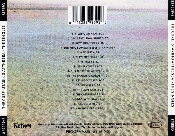 The Cure ‎– Standing On A Beach • The Singles (CD) - comprar online