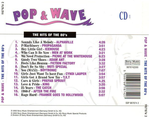 COMPILAÇÃO - POP & WAVE - THE HITS OF THE 80´S (CD) - comprar online