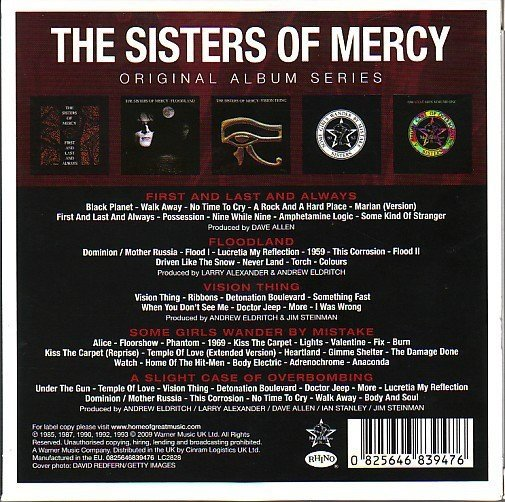 SISTERS OF MERCY, THE - ORIGINAL ALBUM SERIES (BOX) na internet