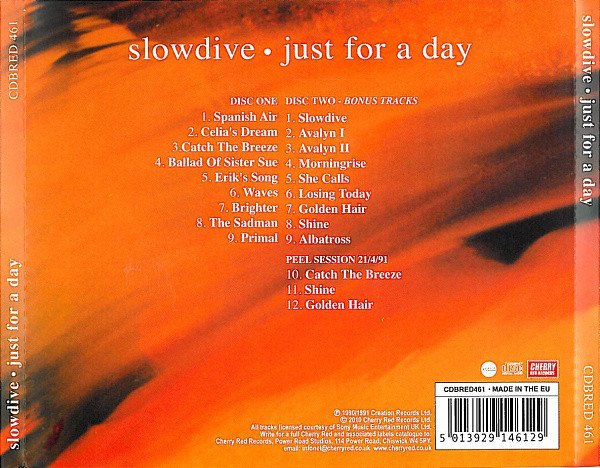 Slowdive ?- Just For A Day (CD DUPLO) - comprar online