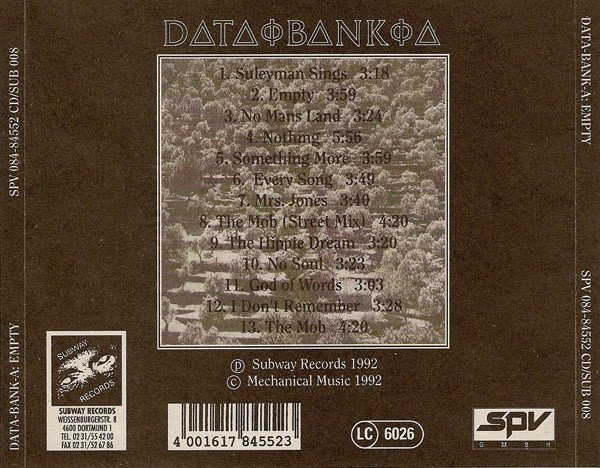 Data-Bank-A ?- Empty (CD) - comprar online