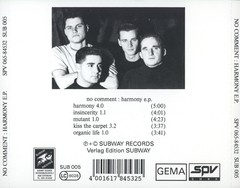 NO COMMENT - HARMONY EP (CD) - comprar online