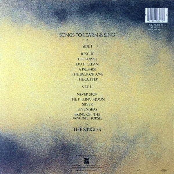 Echo & The Bunnymen ?- Songs To Learn & Sing (VINIL) - comprar online
