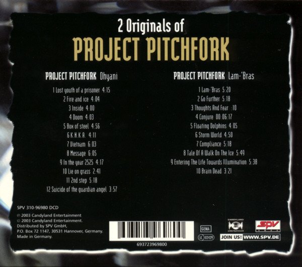Project Pitchfork - 2 Originals Of Project Pitchfork: Dhyani + Lam-'Bras (CD DUPLO BOX) - comprar online