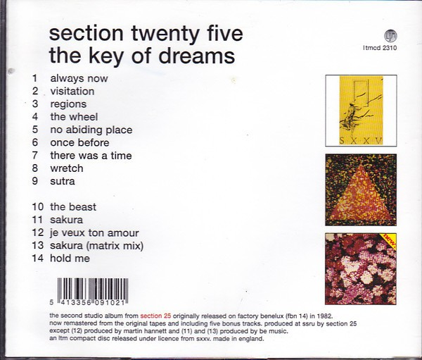 SECTION 25 - THE KEY OF DREAMS (CD) - comprar online