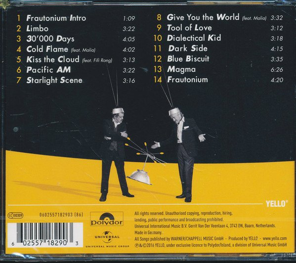 YELLO - TOY (CD) - comprar online