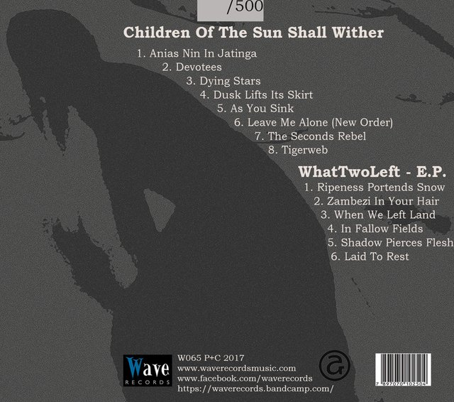 WHAT TWO LEFT - CHILDREN OF THE SUN SHALL WITHER + WHAT TWO LEFT EP (CD) - comprar online