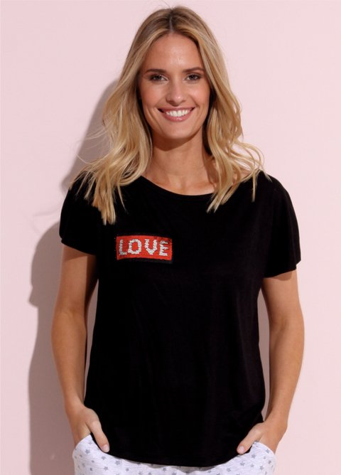 Remera Viscosa Love - 48045/6