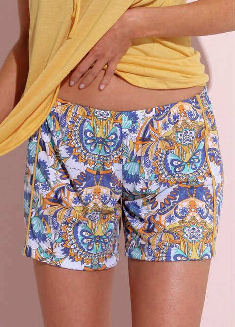 Short Viscosa Estampado Mexican - 49017/8