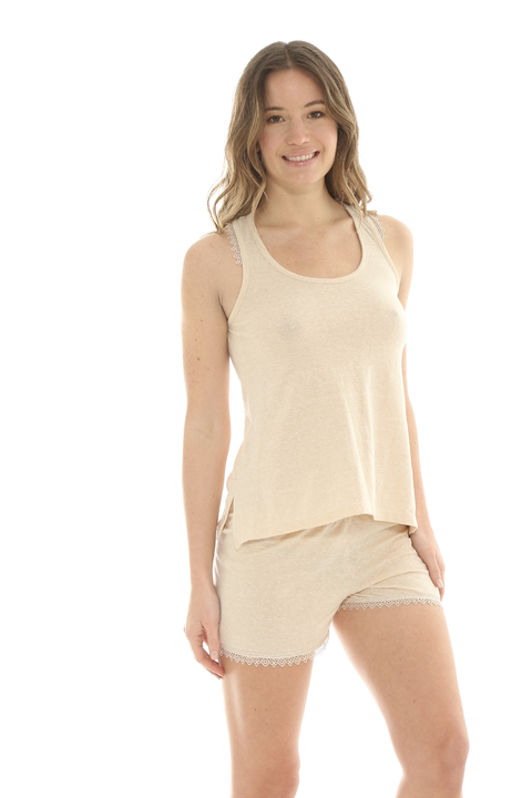 Pijama New Romantic Beige - 82617
