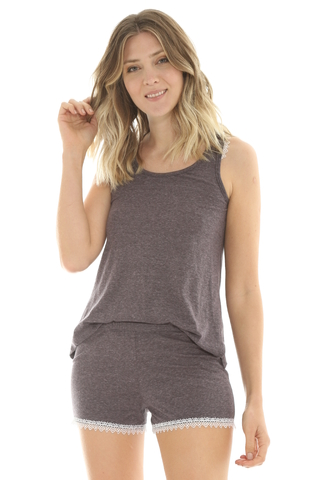 Pijama New Romantic Gris - 82617