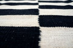 Kilim Black and White 0012 - comprar online