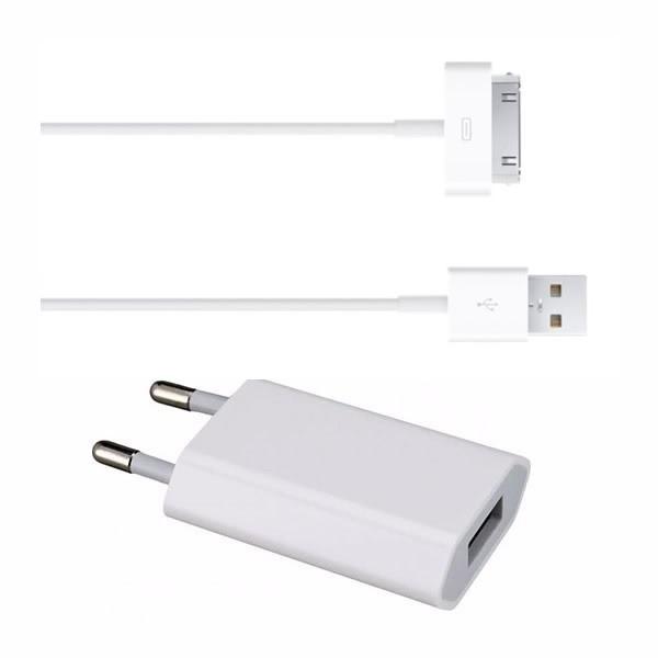 Kit Cable 30 Pines Cargador iPhone 4s 4 iPad A+++