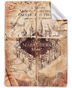 Manta Frazada De Polar Mapa Del Merodeador Harry Potter Xl