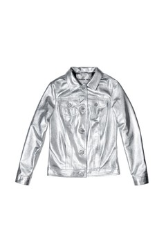 Leather Jacket Silver