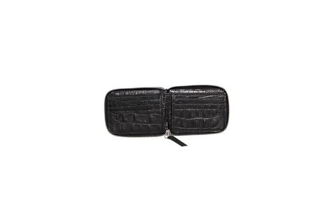 Billetera Unisex blanco y negro Crocco.