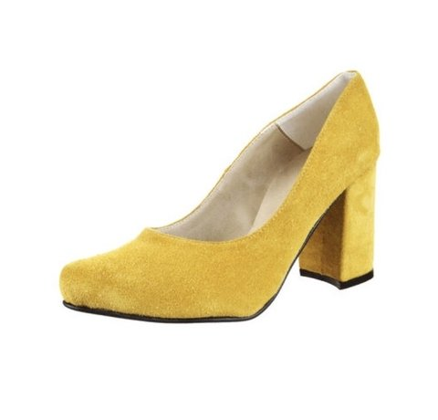 Stiletto Gamuza Amarillo