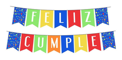 Banderin Feliz Cumple Arcoiris - Lollipop en internet
