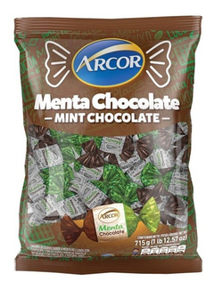 Caramelos Arcor Menta Y Chocolate X 715 Gr - Lollipop