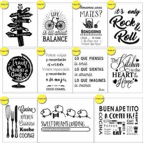 Vinilos Decorativos Frases Puertas Pared