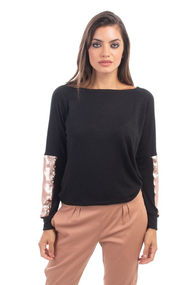 Sweater Grey Negro / Cobre en internet