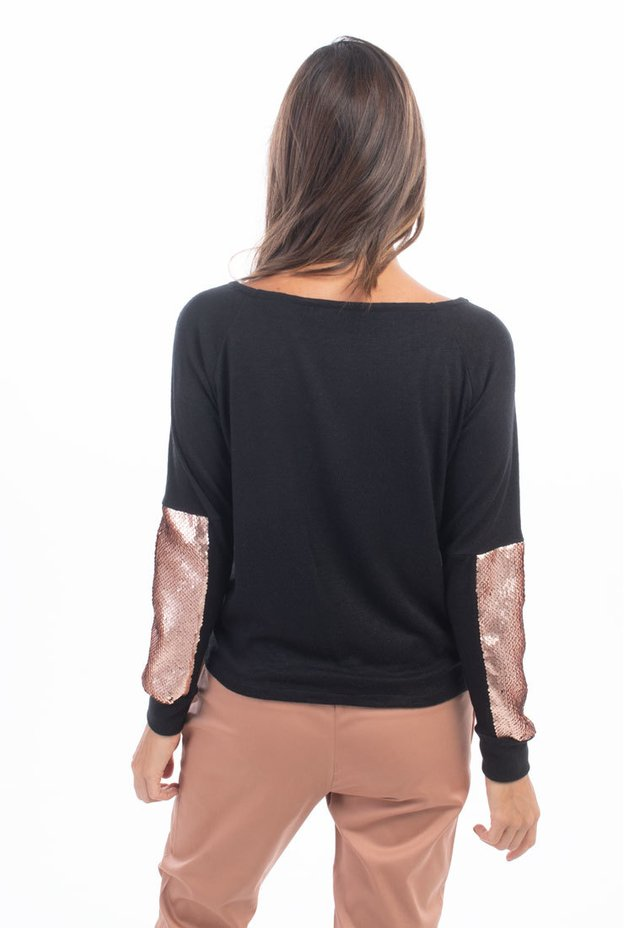 Sweater Grey Negro / Cobre - Mia Loreto