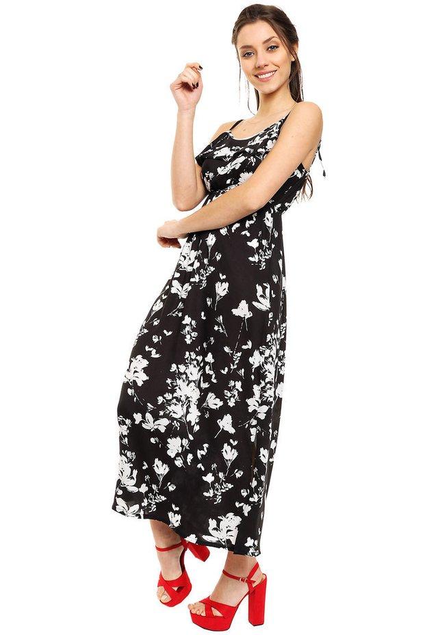 007a34cac Vestido Negro Blanco Carmela - Comprar en Mia Loreto