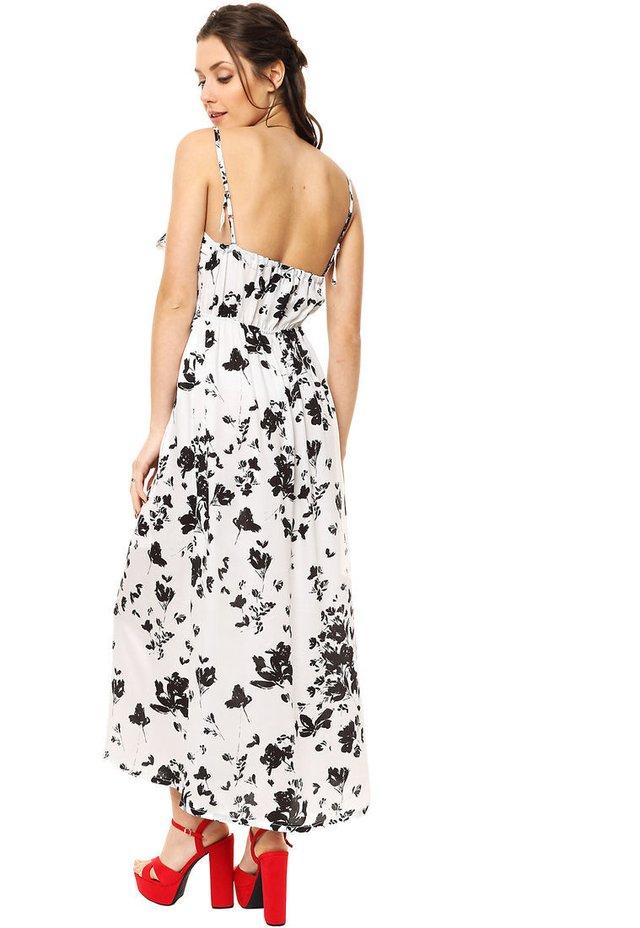 402cff023 ... Vestido Blanco Negro Carmela - comprar online ...