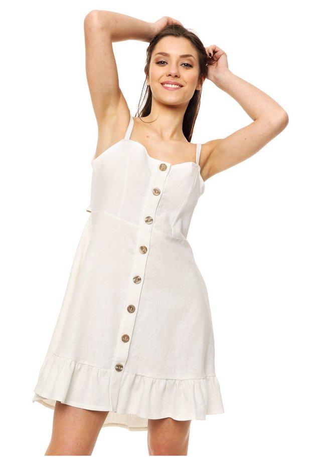69e35a4de Vestido natural Cozumel - Comprar en Mia Loreto