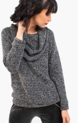 Sweater Banoffee gris topo