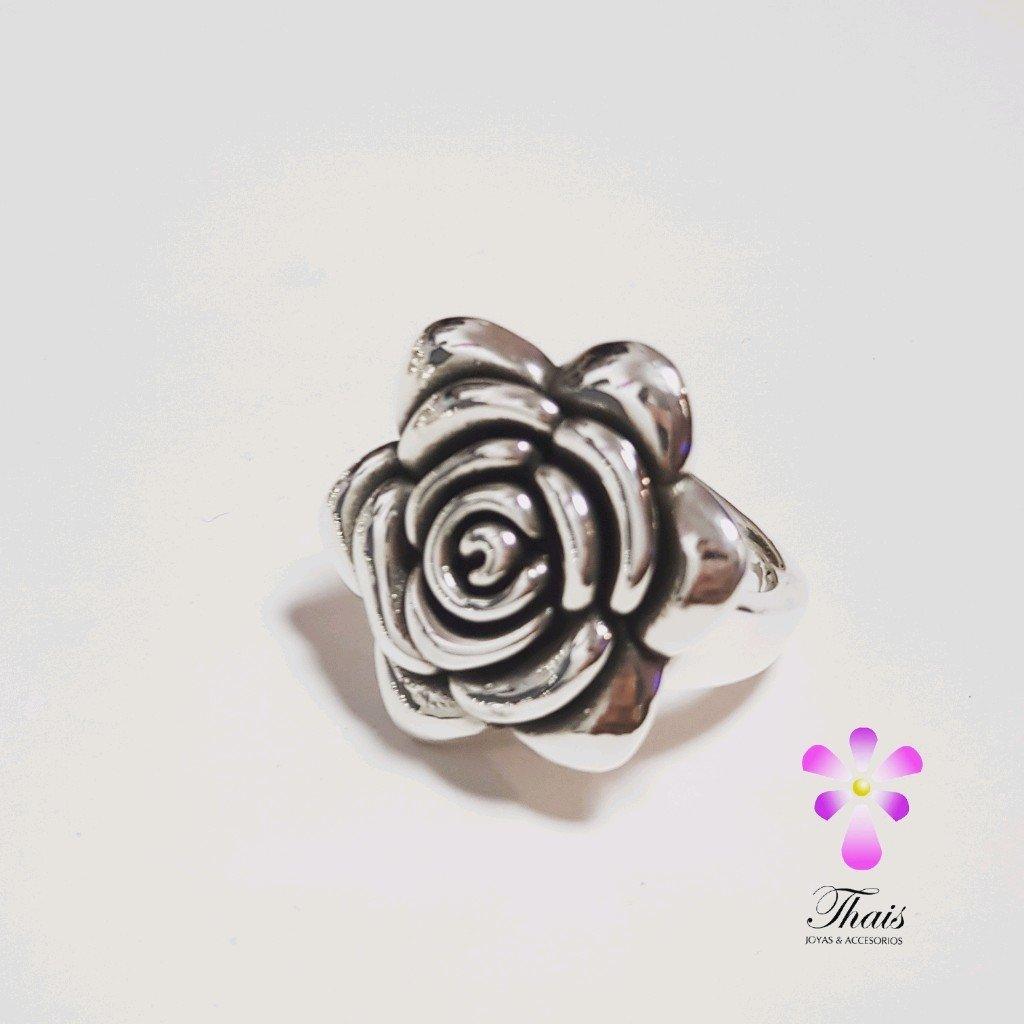 Anillo rosa de plata inflada 925