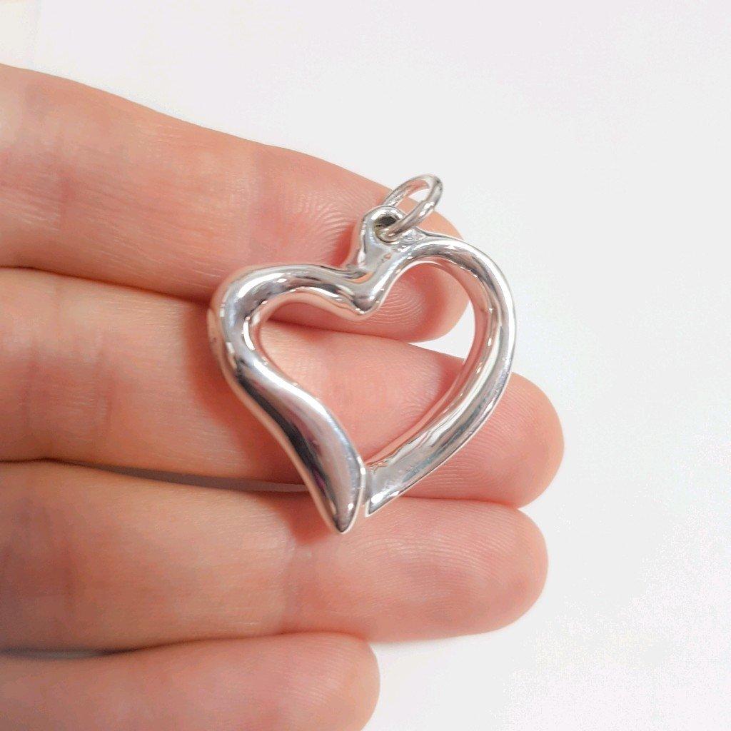 Dije corazón de plata inflada 925