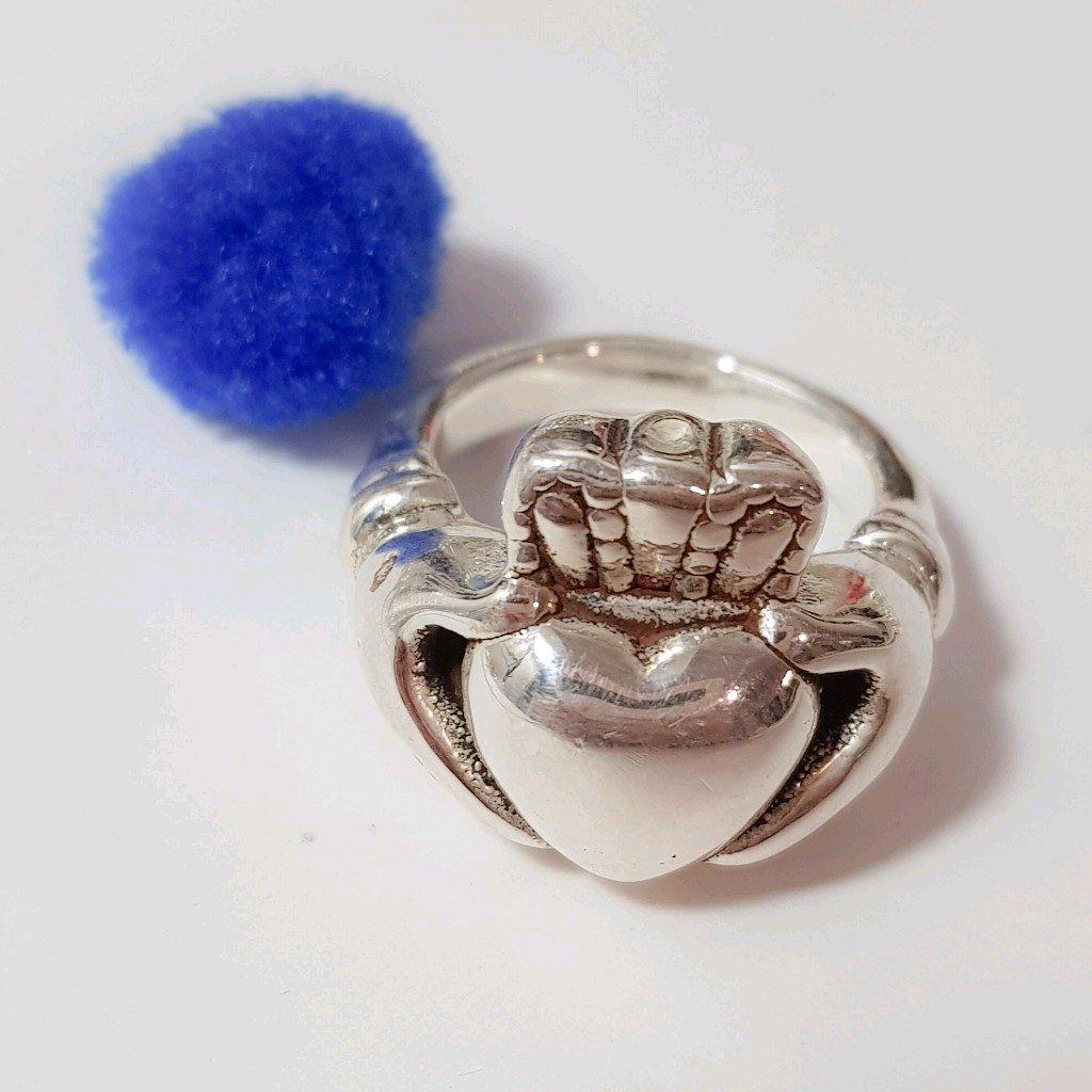 Anillo corazón inflado de plata 925