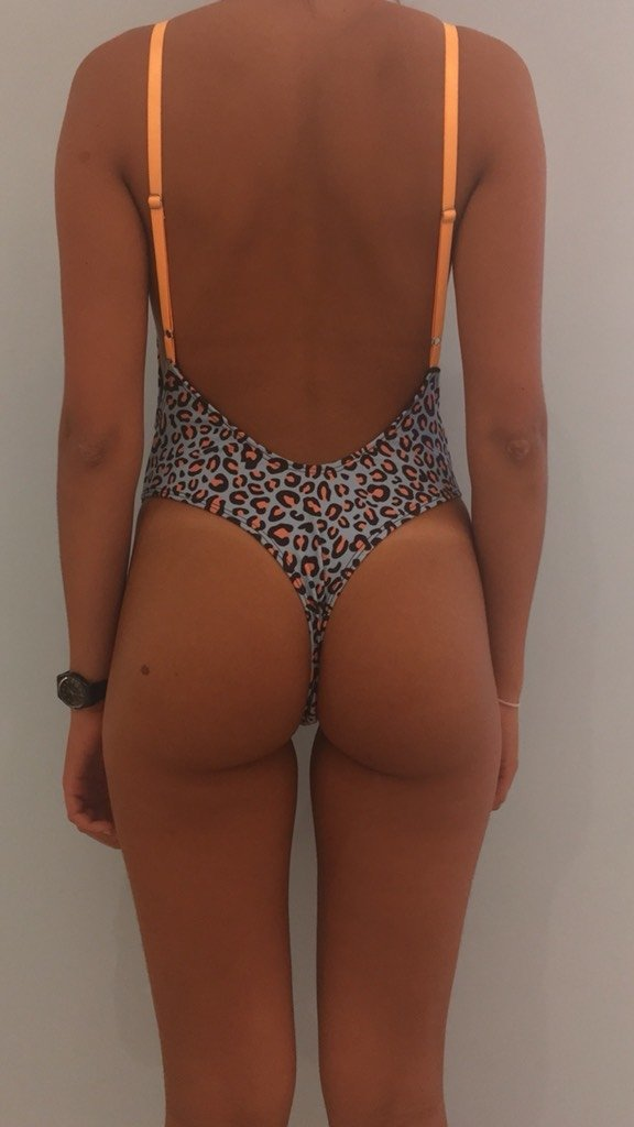 ANIMAL PRINT - Entera cola less - VM bikinis