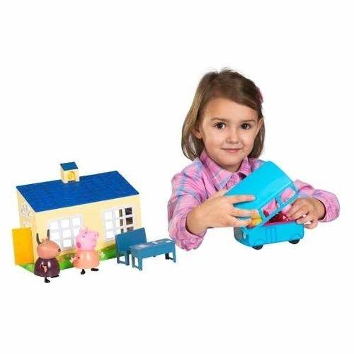 Y Escuela Bus School Peppa Pig Playset Original lF1KJTc3