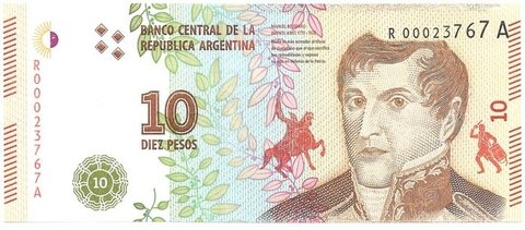 BILLETE DE 10 PESOS,