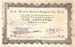 BILLETE DE FILIPINAS , 10 CENTAVOS , AÑO 1942