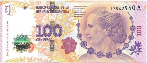 BILLETE DE 100 PESOS,