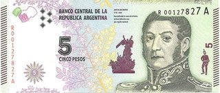 BILLETE DE 5 PESOS,