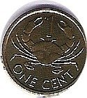 IS. SEYCHELLES, 1 CENT. DE 1997