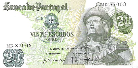 Billete de Portugal 1971