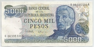 BILLETE DE 5000 PESOS